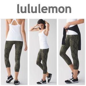 AUTHENTIC Lululemon Wunder Under crop 3 full luon